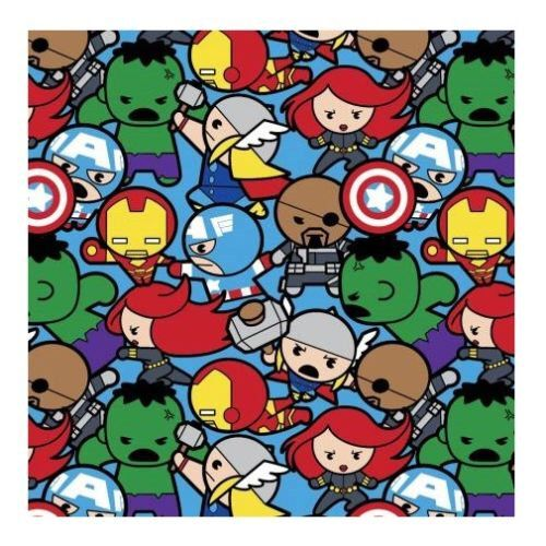"Marvel Fabric - Kawaii Marvel Kawaii Fabric All In The Pack 16004 100% cotton fabric 44"" wide, G143 by CartoonsFabric on Etsy https://www.etsy.com/listing/399371071/marvel-fabric-kawaii-marvel-kawaii"