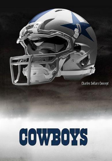 Pin by randy gambrell on football helmets pinterest - Dallas cowboys concept helmet ...