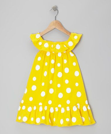 Love this Yellow Polka Dot Organic Swing Dress - Infant & Toddler by Nosilla Organics on #zulily! #zulilyfinds