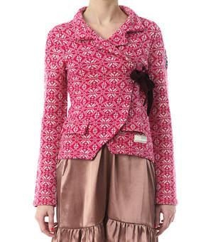 Lovely Knit cardigan i whool. Colored dark pink. Just love it.