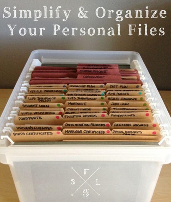 M s de 25 ideas incre bles sobre carpeta archivador de - Ideas para organizar papeles en casa ...