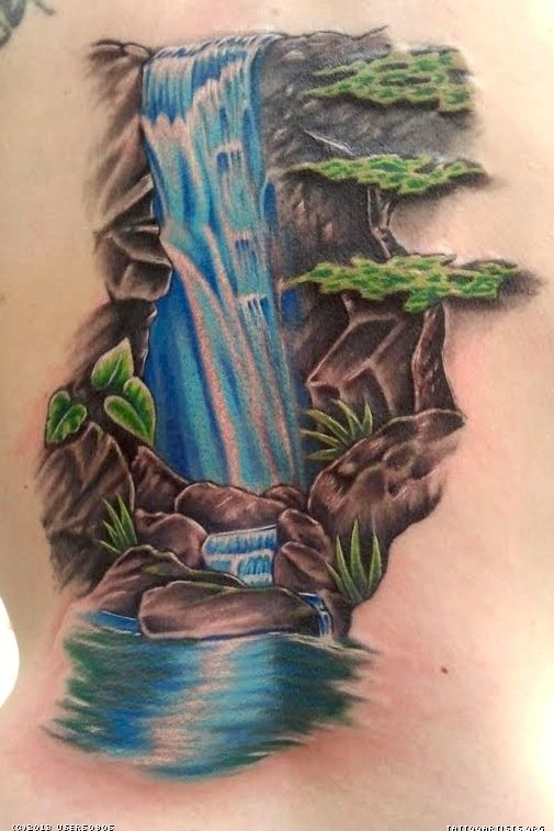 waterfall tattoo designs | 505 x 757 px (115 KB)