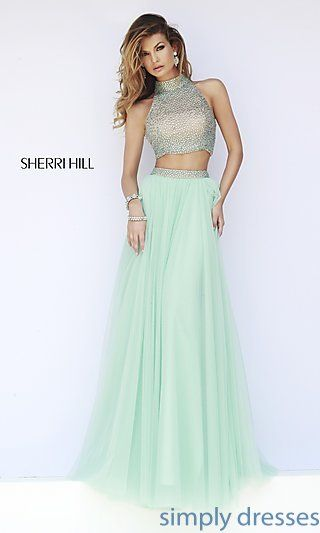 Sherri Hill Floor Length Two Piece Prom Dress at SimplyDresses.com