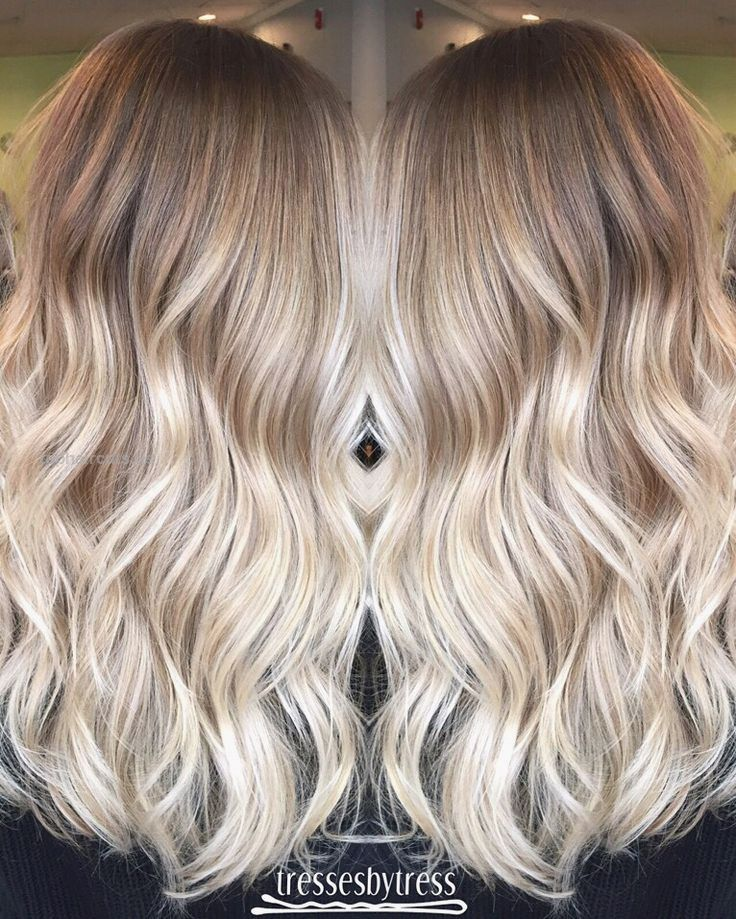 Blonde ombré balayage                                                          … Blonde ombré balayage                                                                                                                              ..  http://www.tophaircuts.us/2017/05/03/blonde-ombre-balayage/