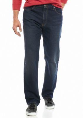 Saddlebred Men's Big & Tall 5 Pocket Straight Fit Stretch Jeans - Dark Stone - 50 X 30