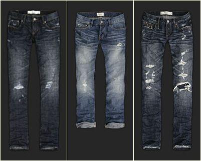 calças jeans Abercrombie modelo masculino