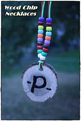 It's My Life: Camping Activity: Wood Chip Necklaces