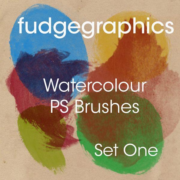 Watercolour Brushes Set 1 by fudgegraphics.deviantart.com on @DeviantArt