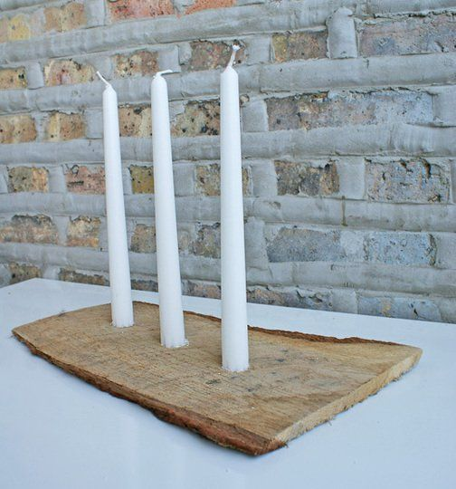 Working with Nature: DIY Log Candle Holder
