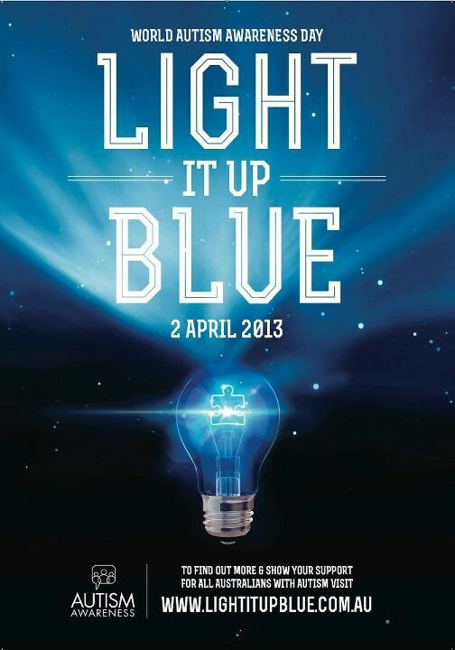 Light it up blue for World Autism Day.