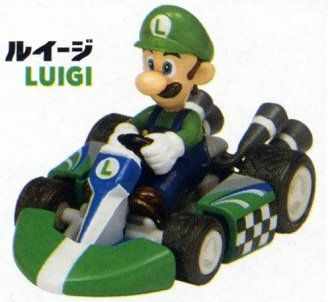 Nintendo World Store Tiny Mini Super Mario Kart Figure Luigi (1 X 2) @ niftywarehouse.com #NiftyWarehouse #Mario #SuperMario #Nintendo #VideoGames #Gaming #MarioBrothers