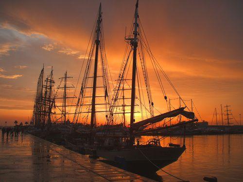 Grandes Veleiros - Funchal 500 Tall Ships Regatta 2008 #Portugal #Sunset