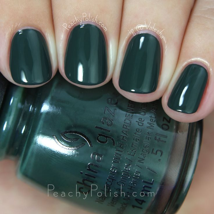 China Glaze Take A Hike | Fall 2015 The Great Outdoors Collection | Peachy Polish #green/blue