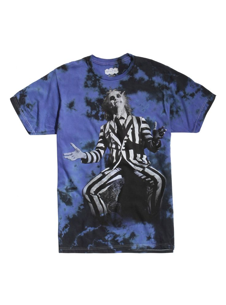 Beetlejuice Character Tie Dye T-Shirt | Hot Topic
