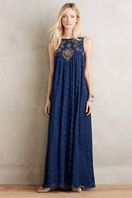 embellished navy maxi dress | pinned by KimbaLikes.com