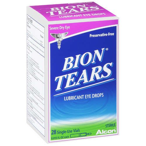 ALCON BION TEARS Severe Dry Eye Lubricant Artificial Tear Drops - 28ct