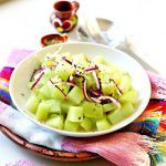 "Chayote Salad Recipe | Chayotes are also added to many stews (like the well-liked ""Caldo de Res"" and Caldo de Pollo"")"
