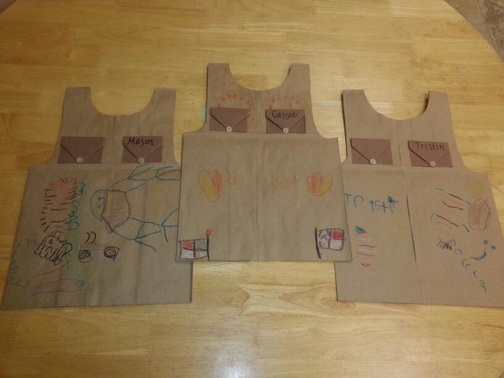 how to turn a brown paper bag into a vest