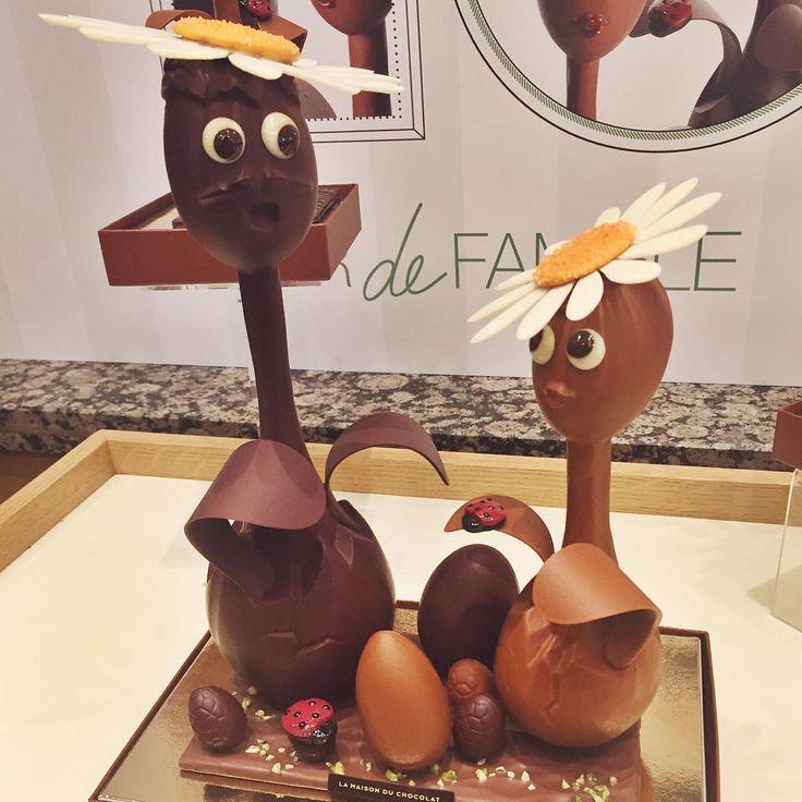 Dans la famille pâquerette, je voudrais le grand-père et la fille... C'est le printemps à @lamaisonduchocolat_paris #chocolate #chocolat #pâquesenavance #flowerpower #coupdecoeurzeste