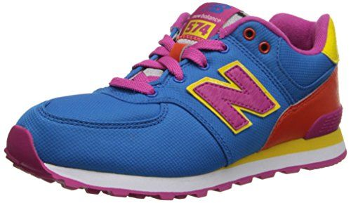 New Balance KL574 Pre Lace-Up Running Shoe (Little Kid),Blue/Orange,11 W US Little Kid. Rubber-sole. Rubber sole. Closed-toe. 75% Leather and 25% Mesh. Ethylene vinyl acetate midsole and heel. Lace-up. Canvas. Multi-colored. Origin: Vietnam. Fashion shoe.