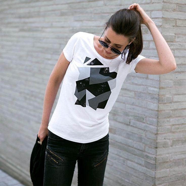 Urban Gilt - Telford White Camouflage T-shirt | Women's Graphic Tees For Life's Adventurers | urbangilt.com | @urbangilt