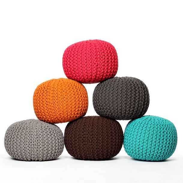 Knitted Pouf Chocolate | Fab | Fab.com