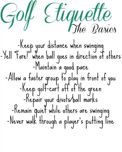 The Basics of Golf Etiquette