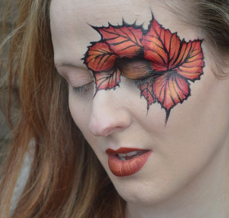 leaf face paint - Google Search