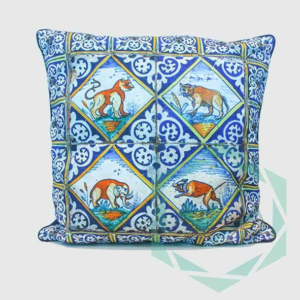 Inspired from 17th Century Dutch Delftware, make an artistic addition to your villa with our Delft cushion.   Delft1 cushion comes in 2 sizes:  45x45= Rp. 350,000 60x60= Rp. 450,000  For inquiries email us apaproductionhouse@gmail.com