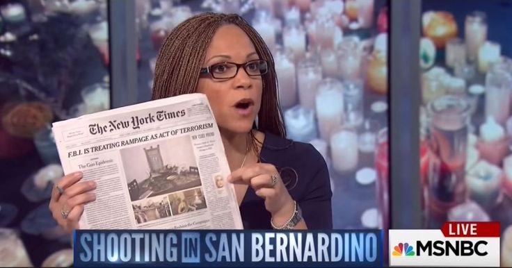 MSNBC HOST FURIOUS AT PUBLICATION OF TASHFEEN MALIK'S PHOTO BECAUSE IT COULD OFFEND MUSLIMS Melissa Harris-Perry slams NY Times for showing terrorist's face