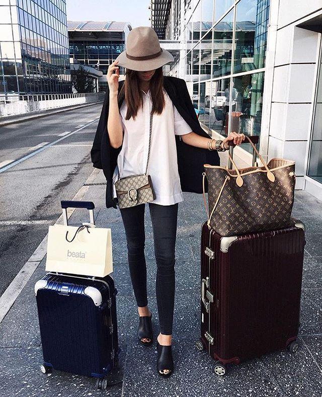Louis Vuitton Neverfull Rimowa Luggage