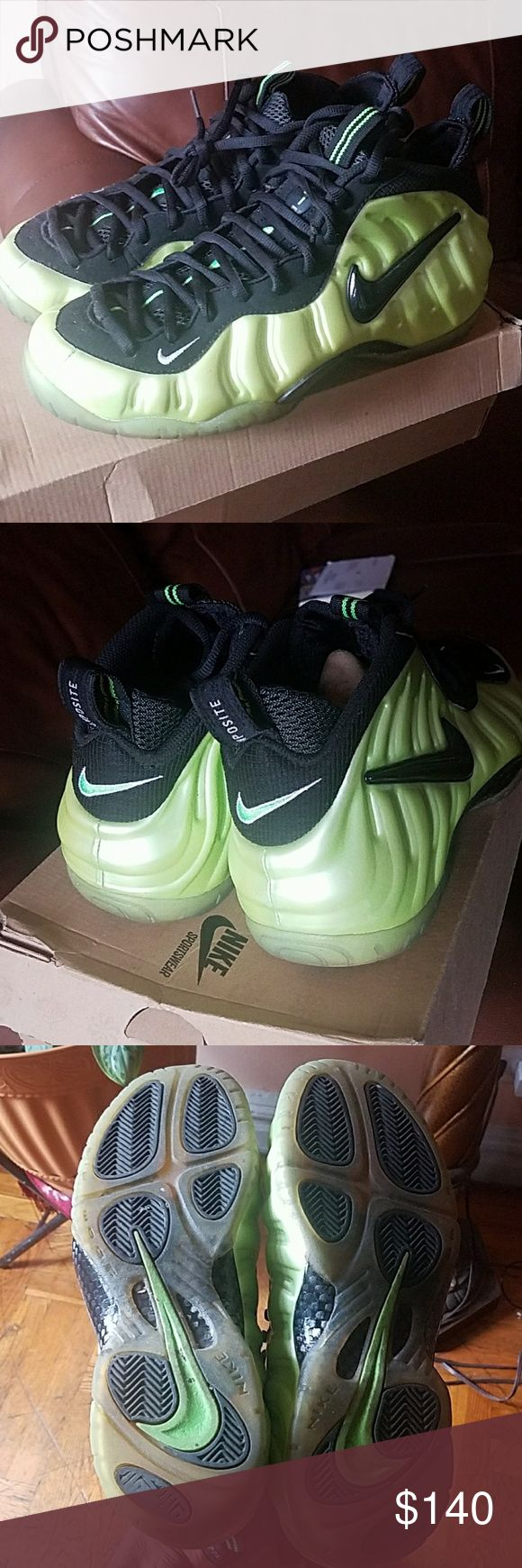 Nike Air Foamposite Pro 2011 Electric Green Foamposite Pro's in great condition! Barely worn! Back of the closet find! Nike Shoes Sneakers