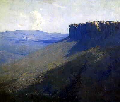 Mount Rosea, Oil on canvas, 62 x 75 cm, Arthur Streeton
