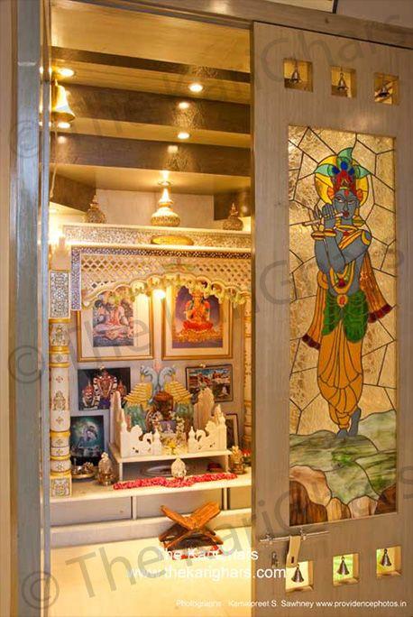 49 best temple design images on pinterest puja room for Pooja room entrance door designs