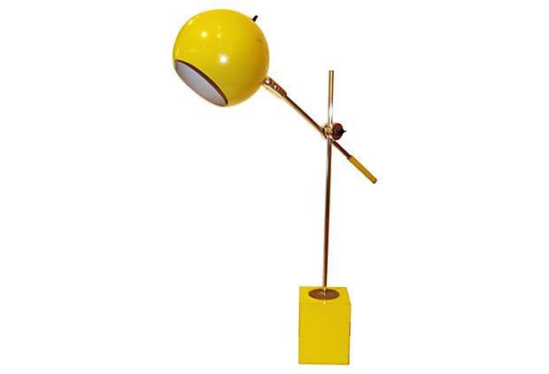 Robert Sonneman Yellow Desk Lamp on OneKingsLane.com