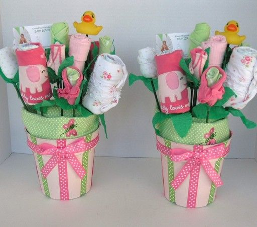 baby shower gift for a girl | Baby Bouquets for Twin Girls: Baby Shower Decor- Unique Gift for Twins ...