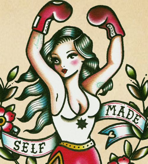 traditional girl boxer tattoo - Google Search