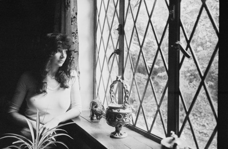 Kate Bush at her family's home in East Wickham, London in 1978.