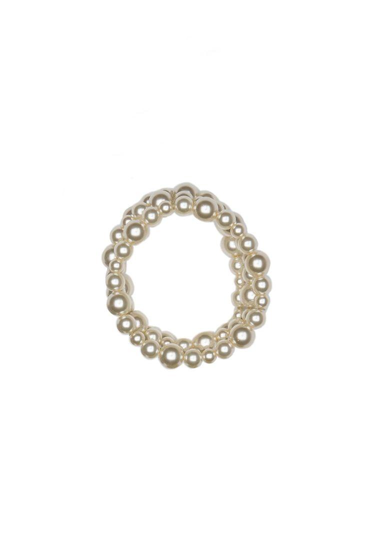 Bracelet de perles trois rangs