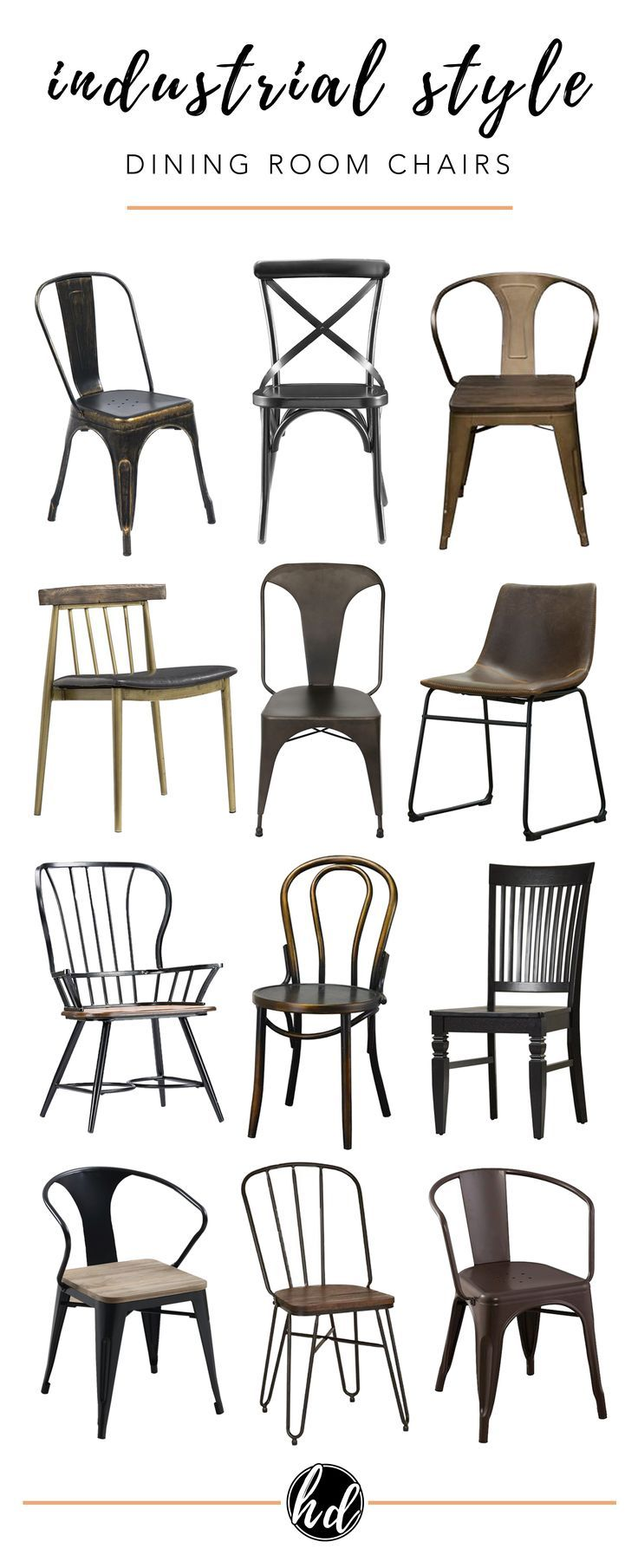 Industrial Dining Chairs, Industrial Style Dining Room Chairs