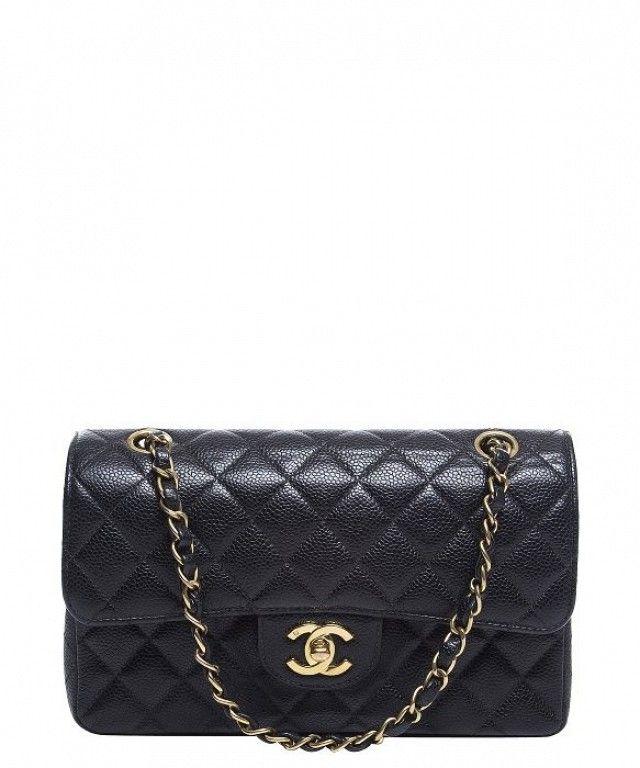 Chanel Black Caviar Small Double Flap Bag