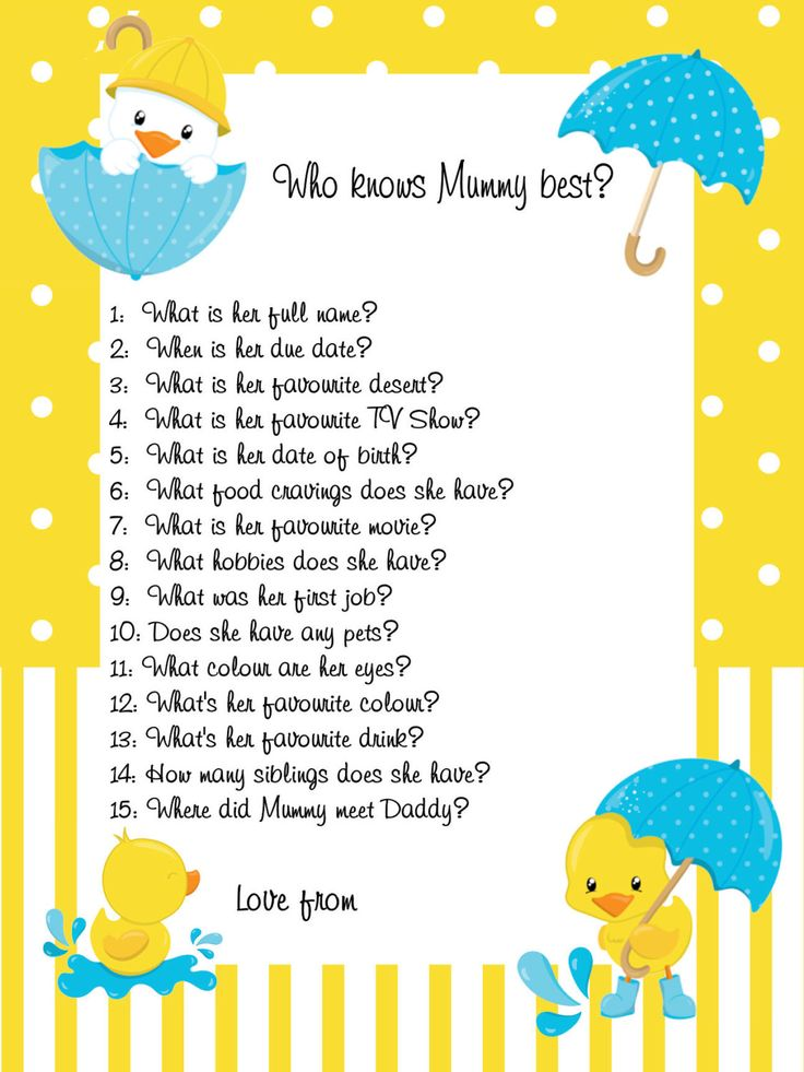 Who Knows Mum Best Ducks,Yellow,Boy,girl,Printable,Download,Baby Shower  Ideas,baby Shower Favours,Neutral,Duck Theme,Baby Shower Games