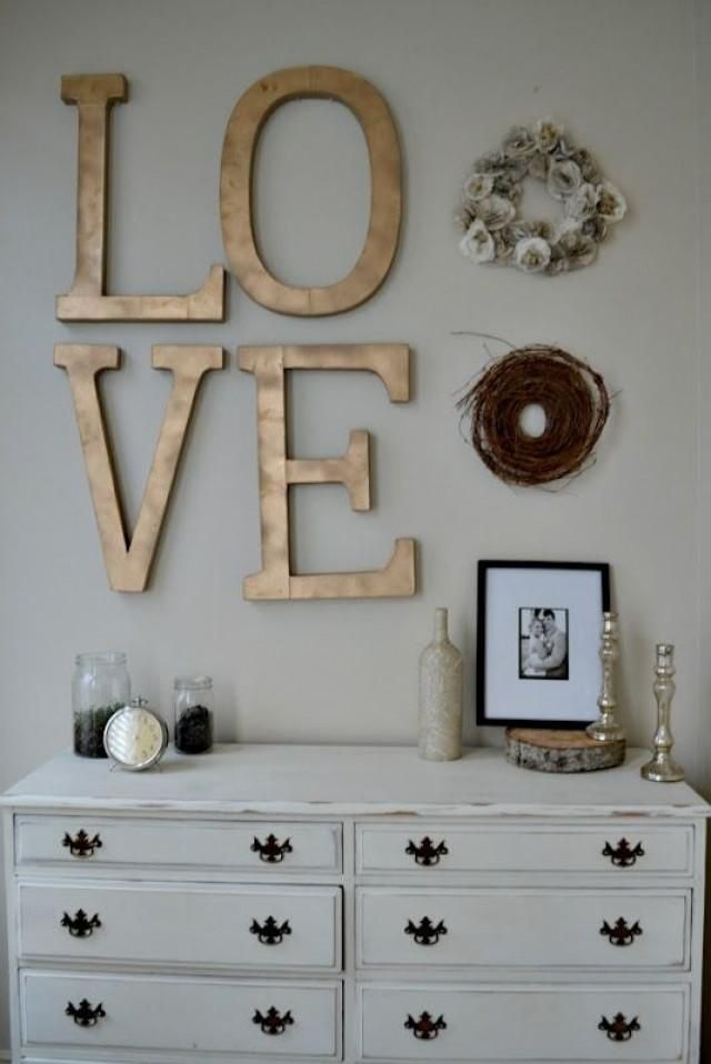 Weddbook is a content discovery engine mostly specialized on wedding concept. You can collect images, videos or articles you discovered  organize them, add your own ideas to your collections and share with other people - Painted letters for bedroom wall