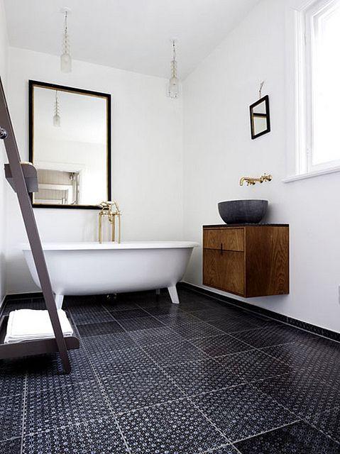 Bathroom in a modern rustic home