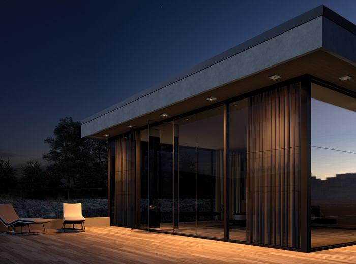 123 best external residential images on pinterest for Residential exterior lighting design