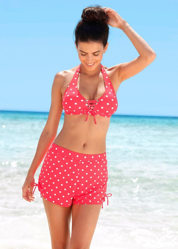 Schnell trocknendes Neckholder-Bikini-Oberteil rotr/weiß gepunktet jetzt im Online Shop von bonprix.de ab ? 19,99 bestellen. Dieses verspielte ...