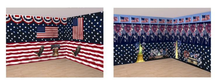 Patriotic Scene Setters at AtoZ Discount Wholesale Party Supplies