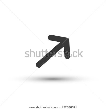 Upper right arrow icon vector isolated on white background direction symbol for your design, logo, application, UI - stock vector
