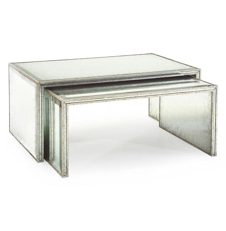 Best John Richard Jasmine Hollywood Regency Silver Leaf Mirror 400 x 300