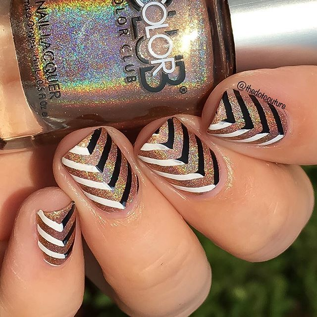28 best nail art stamping plates images on pinterest products two toned chevron nail art using bornprettystore plate bp l006 konad white prinsesfo Images